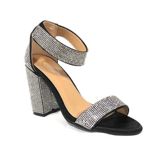 Silver And Black Heels
